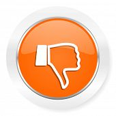 image of dislike  - dislike orange computer icon - JPG