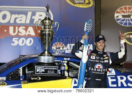 Hampton, GA - Sep 01, 2014:  Kasey Kahne (5) wins the Oral-B USA 500 at Atlanta Motor Speedway in Hampton, GA.