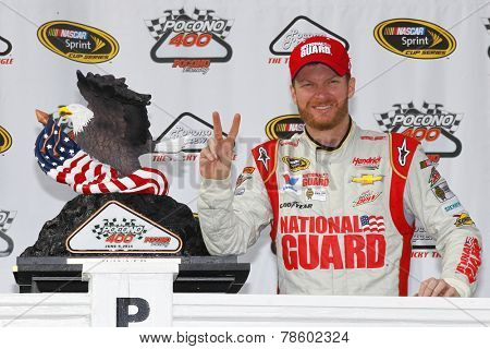 Pocono, PA - Jun 08, 2014:  Dale Earnhardt Jr. (88) wins the Pocono 400 at Pocono Raceway in Pocono, PA.