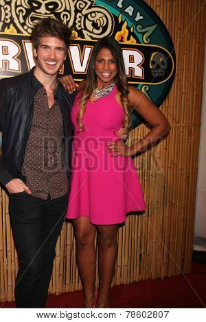 LOS ANGELES - DEC 17:  Joey Graceffa, Natalie Anderson at the