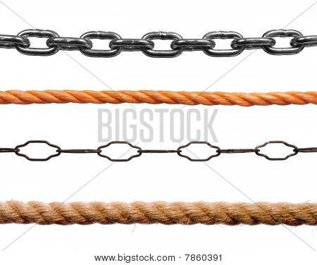 Seile oder Ketten
