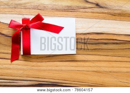 Blank Note With A Ribbon
