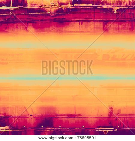 Old, grunge background or ancient texture. With different color patterns: blue; purple (violet); pink; orange; yellow