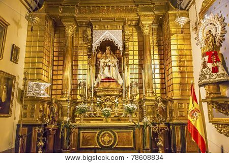 Basilica Altar Mary Jesus Statue Santa Iglesia Collegiata De San Isidro Madrid Spain
