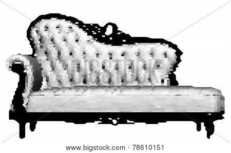 Pixelated Mosaic Tiled Sofa V...