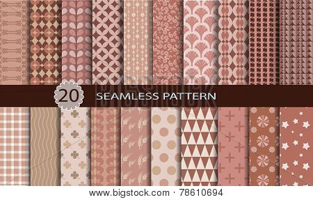 20 retro seamless patterns.
