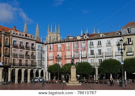 Plaza Mayor In Burgos, Spain
