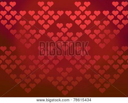 Red hearts patterns valentines background