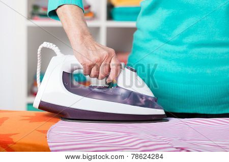 Close-up Of Ironing
