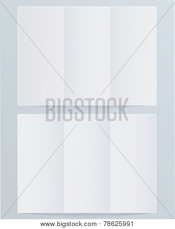 Blank layout triple brochure with stripes.