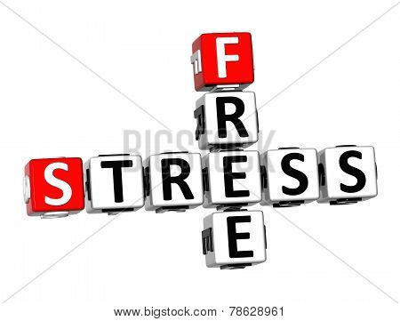 3D Crossword Free Stress On White Background
