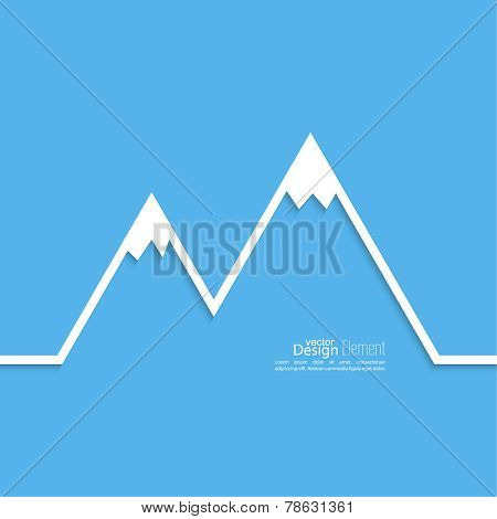 The mountains with snowy peaks.