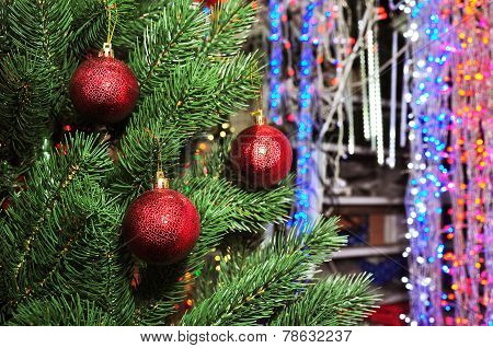 Photo of Christmas tree in a toy store