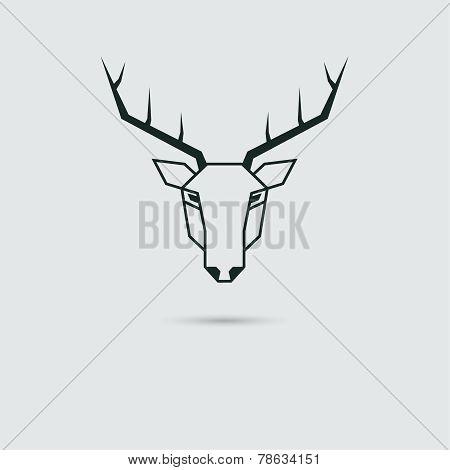 Vector deer head