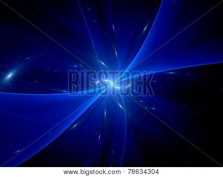 Blue Glowing Space Object