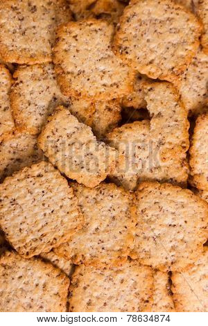 Background Of Crunchy Biscuits