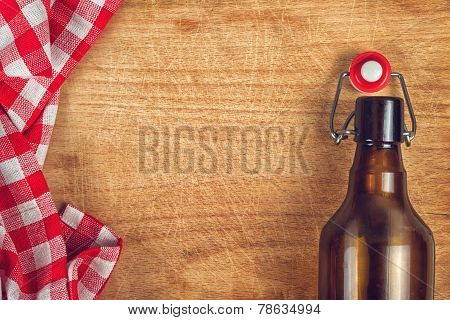 Empty Beer Bottle With Swing Flip Top Stopper