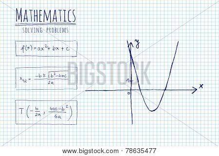 Paper With Mathematic Formula And Sketch - Vector Illustration