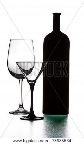 Bottle And Wineglasses