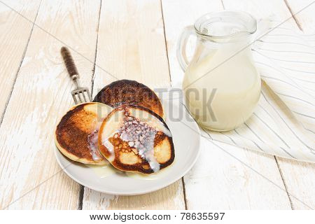 Pancakes With Condensed Milk