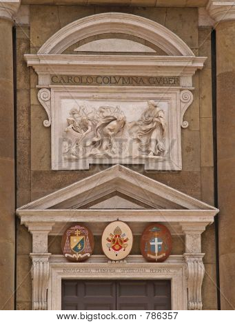 Cathedral details and blazonry