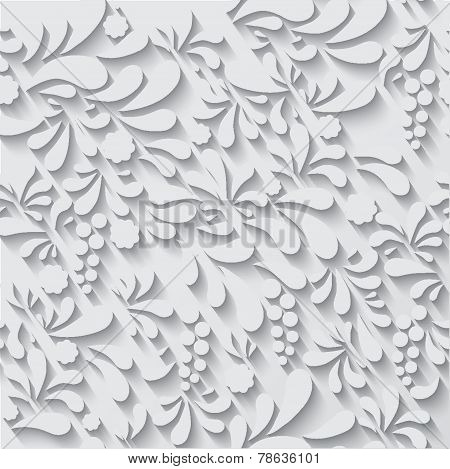 Floral ornament vector background pattern