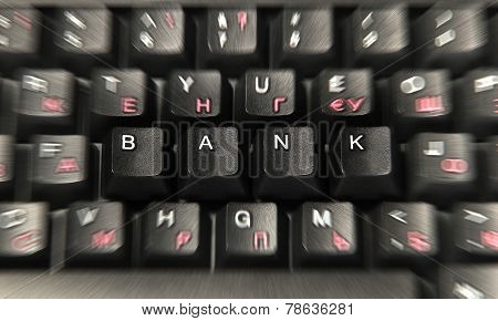 Bank On The Computer Keyboard
