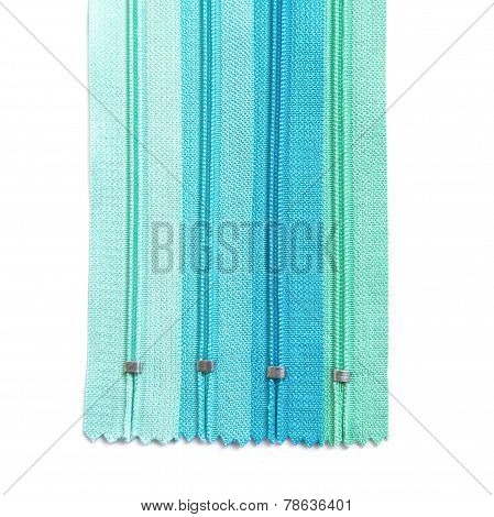 Zipper pastel set isolated on white background