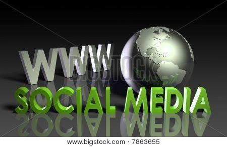 Meios de comunicação sociais
