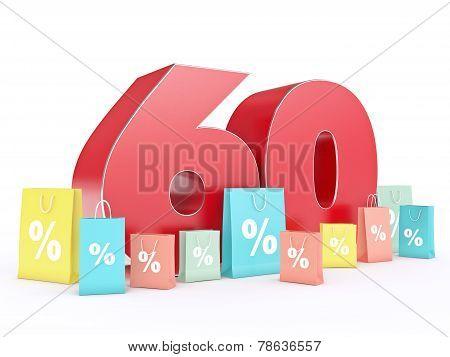 3D rendering of a 60 percent discount