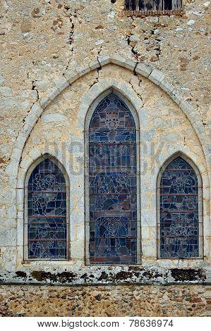 Romanesque church window