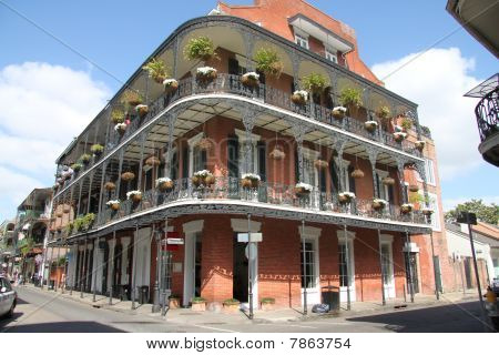 New Orleans French Quarter balcones