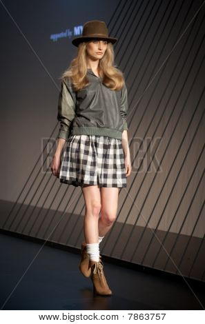 Melbourne, Australia - March 18: A Model Showcases Designs By Arabella Ramsay In The 2010 L'oreal Me