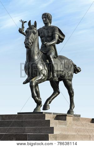 Greek Leader Alexander The Great On Horse