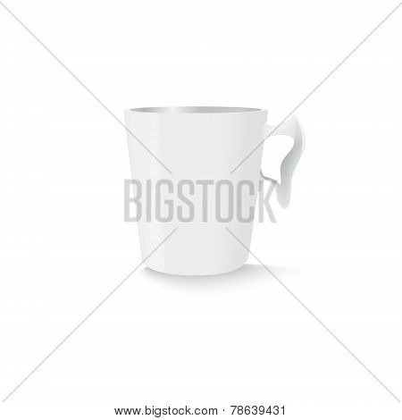 White cup template
