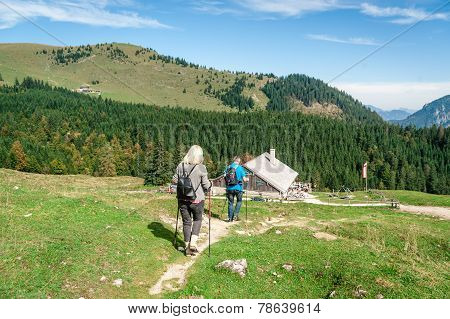 Two Hiker In The Alps