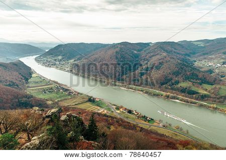Beautiful Landscape With Danube River