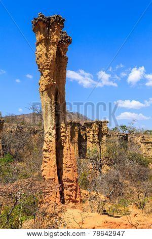 Sandstone Pile In An African Wild Landscape