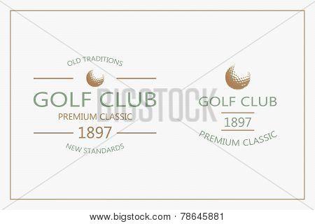 Golf logotypes. Set 3