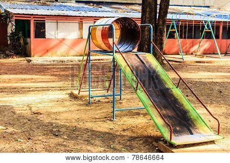 a slide on playground