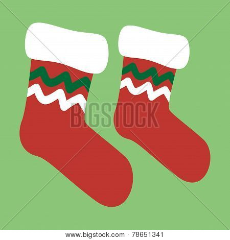 Vector drawing of a christmas socks