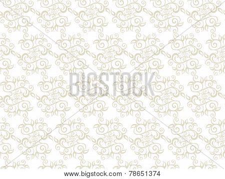 Elegant Seamless Pattern of Floral Vintage or CLassic Vines