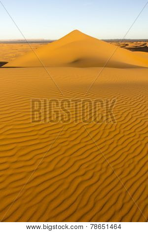 On The Desert Dune Of Erg Chebbi