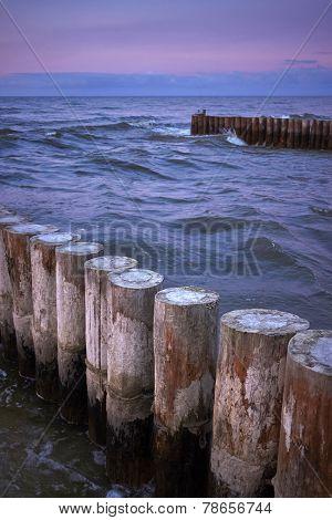 Breakwater In The Sea