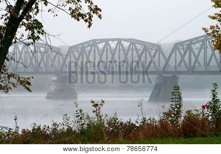 Trestle Bridge In The Mist