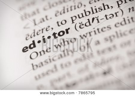 Dictionary Series - Miscellaneous: Editor