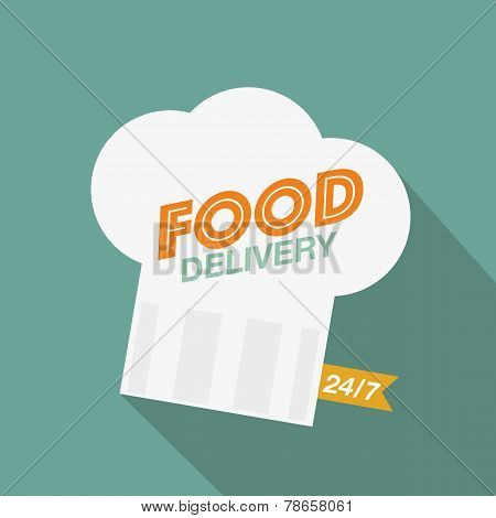 Food delivery chef's hat
