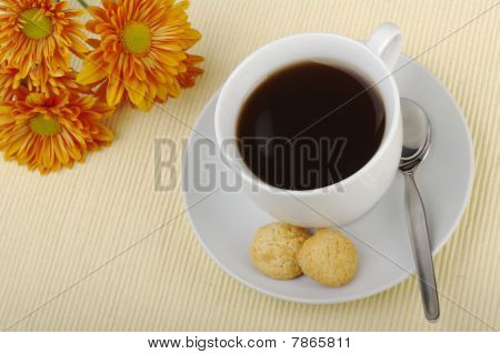 Blacktea with Orange Flowers