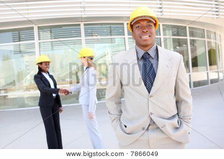 Mann und Frau Bau-team