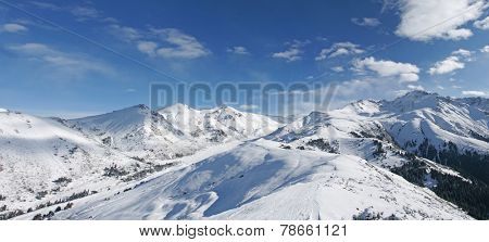 winter panoramic landscape